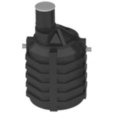 Емкость под септик 3 куб.м (стандартное исполнение, входной и выходной патрубки с перегородками)